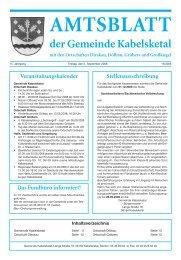 AMTSBLATT der Gemeinde Kabelsketal mit den Ortschaften ...