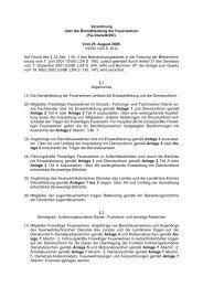 Verordnung über die Dienstkleidung der Feuerwehren