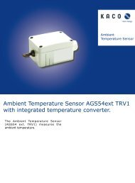 Ambient Temperature Sensor AGS54ext TRV1 with integrated ...