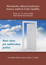 Nové výzvy pro auditorskou profesi - Komora auditorů České republiky