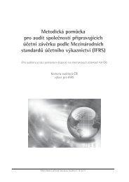 Metodická pomůcka pro audit společností připravujících účetní ...