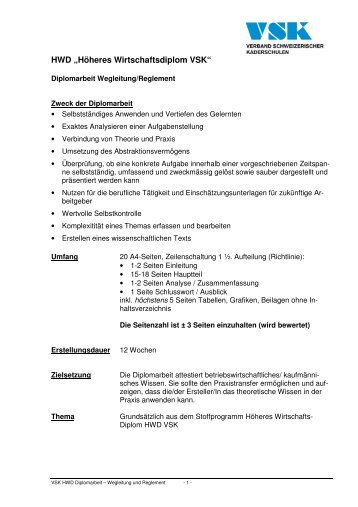 Wegleitung Zum Reglement Schule Für Gestaltung Aargau