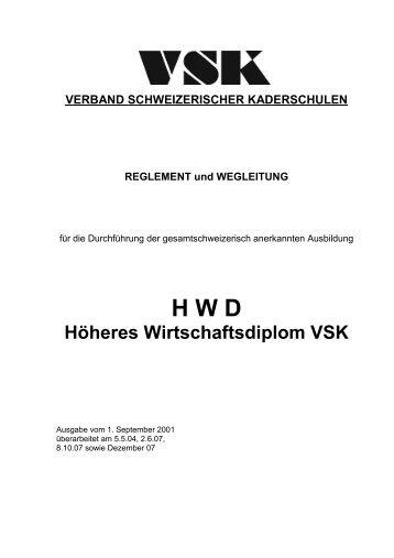 Höheres Wirtschaftsdiplom VSK - Verband Schweizerischer ...