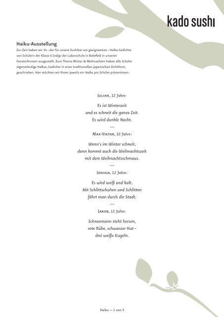 Haikus gedichte