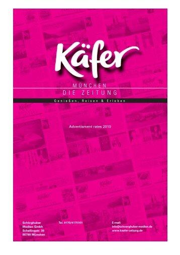 Price List Ka¨fer 2009 - Käfer Die Zeitung