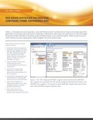 WEB SERVER APPLICATION FOR ANALYZING COMPUWARE ...