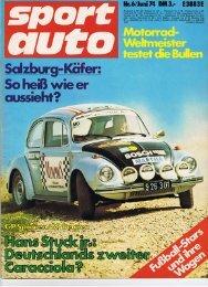 Porsche Salzburg Ausverkauf Sport Auto 06|74