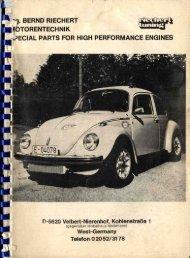 Riechert Katalog 1980