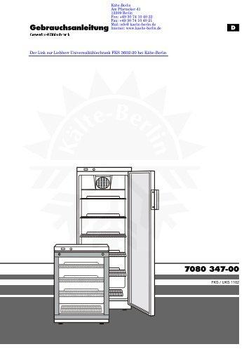 Liebherr Universalkühlschrank FKS 3602-20 - Kälte Berlin