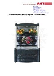 Informationen zur Kühlung von Schnittblumen - Kälte Berlin
