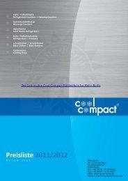Gesamtkatalog 2011-2012 Cool Compact ... - Kälte Berlin