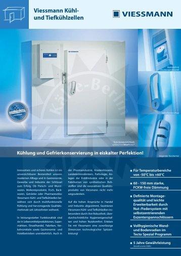 Datenblatt Kühl- und Tiefkühlzellen - Kälte Berlin