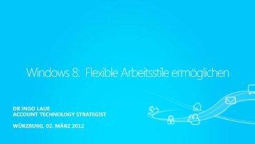 Erste Einblicke in Windows 8 (pdf / 2.070 KB - bei cobra-Shop