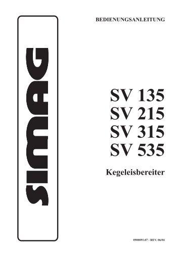 SV 135 SV 215 SV 315 SV 535 - Kälte Berlin