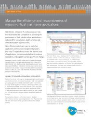Manage the efficiency and responsiveness of mission-critical ...