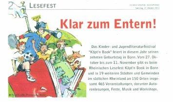 Schaufenster / Blickpunkt Bonn - Käpt'n Book Lesefest