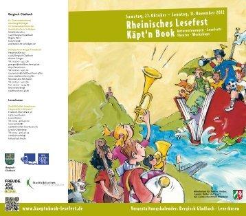 Regionaler Kalender Leverkusen 2012 - Käpt'n Book Lesefest