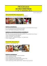 Das Detailprogramm der HERBSTMESSE 2013 ... - Kärntner Messen