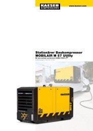 M 57 Utility 5.1–5.4 m³/min 180–190 cfm - KAESER ...