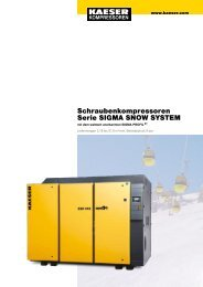 Schraubenkompressoren Serie SIGMA SNOW SYSTEM - KAESER ...