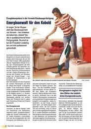 Energieanwalt für den Kobold - Kaeser Kompressoren GmbH