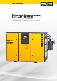 Schrauben-Vakuumanlagen Serie ASV/BSV/CSV