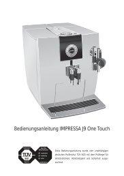Bedienungsanleitung IMPRESSA J9 One Touch