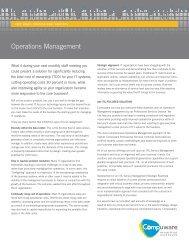 Operations Management - Compuware Corporation