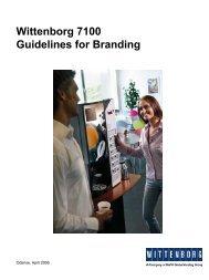 Wittenborg 7100 Guidelines for Branding - Kaffeevollautomaten.org