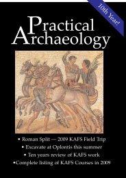 Pract Archeo Winter - Kent Archaeological Field School