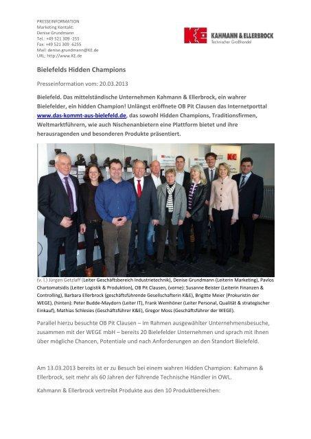 Pressemitteilung Als Pdf Kahmann Und Ellerbrock