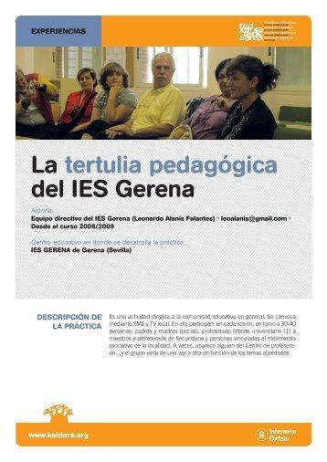 La tertulia pedagógica del IES Gerena - Kaidara