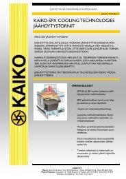 KAIKO-SPX COOLING TECHNOLOGIES JÄÄHDYTYSTORNIT