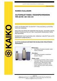 KAIKO-CULLIGAN AUTOMAATTINEN VEDENPEHMENNIN WS 60 ...