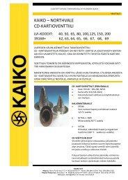 KAIKO – NORTHVALE CD-KARTIOVENTTIILI