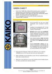 GREEN CARD T - Kaiko