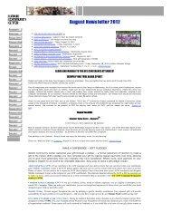 Waikiki Community Center August 2012 Newsletter - Kaimuki, Hawaii