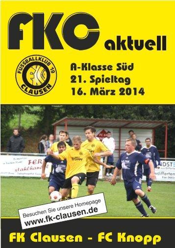 FKC Aktuell - 21. Spieltag 2013/2014