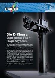 Die D-Klasse: Das neue Fach- Reprosystem - Kaiser Fototechnik