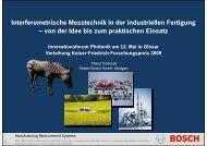 Interferometrische Messtechnik in der industriellen Fertigung – von ...