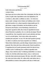 2.fastensonntag 2012 Liebe Schwestern und Brüder, verehrte ...