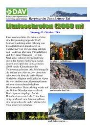 Bergtour im Tannheimer Tal www.dav-kaufering