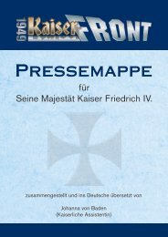 Pressemappe für Seine Majestät Kaiser Friedrich IV. - Kaiserfront