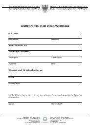 anmeldung zum kurs/seminar - Landeshotelfachschule Kaiserhof