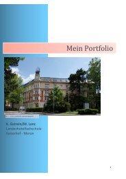 Portfolio - Landeshotelfachschule Kaiserhof