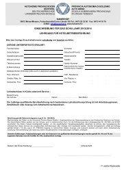 Einschreibeformular hotelbetriebsführung 2013-14