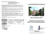 Broschüre HH 2013-2015 - Landeshotelfachschule Kaiserhof