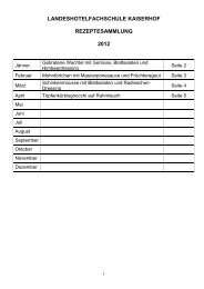 Rezeptesammlung 2012 - Landeshotelfachschule Kaiserhof