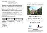 Broschüre HH 2011-2012 - Landeshotelfachschule Kaiserhof