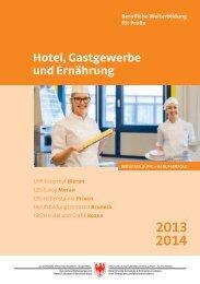 Hotel- und Gastgewerbe - Landeshotelfachschule Kaiserhof